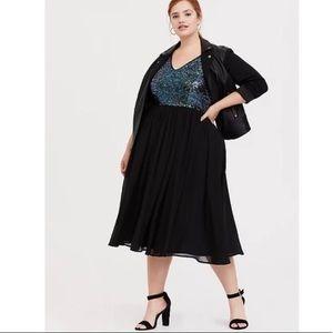 Torrid Sequin Skater Dress - size 20